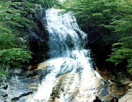 """有""""山水画廊""""之称的千岛湖风景区;湖湾幽深多姿,景色绚丽多彩;远观"""